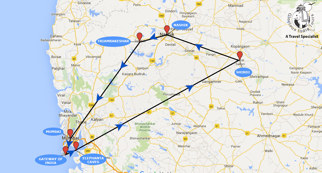 Mumbai Shirdi Nashik Tour Package